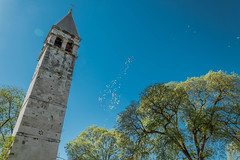 Kirchenturm in Split, Kroatien