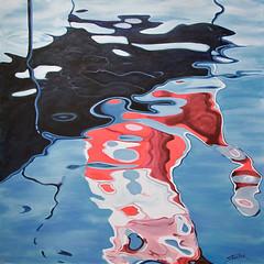 """Flag Reflection"" (stevefortier19) Tags: painting original art artist canadian"