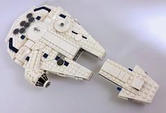 Lando's Falcon (midi-scale) (Pellaeon) Tags: lego star wars millennium falcon lando kessel run midi scale moc