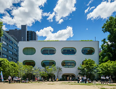 The facade of Musashino Place (武蔵野プレイス) (christinayan01 (busy)) Tags: tokyo japan architecture building perspective library