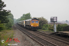 The last EuroScrap move? (CS:BG Photography) Tags: class66 tamworth crosscountryroute gbrailfreight 66774 gbrf tam shed class373 eurostar 373201 3201 tgvtmst tgv 373202 3202