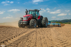 Preparing soil before colza planting | MASSEY FERGUSON // FARMET (martin_king.photo) Tags: springwork springwork2018 masseyferguson farmet agco dual dualwheels landscape sky clouds outdoor strong huge big machine martin king photo agriculture machinery machines tschechische republik powerfull power dynastyphotography lukaskralphotocz agricultural great day czechrepublic fans work place tschechischerepublik martinkingphoto welovefarming working modern landwirtschaft green colorful colors blue photogoraphy photographer canon tractor love farming daily tires onwheels