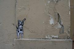Little dog paste-up (Jürgo) Tags: paris parisstreetart streetart france urbanart streetartfrance publicart paste pasteup wheatpaste poster posterart