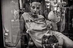 modern woman (Daz Smith) Tags: dazsmith fujixt20 fuji xt20 andwhite city streetphotography people candid portrait citylife thecity urban streets uk monochrome blancoynegro blackandwhite mono mannequin woman soho london
