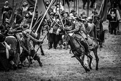 The Sealed Knot - 375th anniversary of the Siege of Bristol. (sfrancis23) Tags: civil war english england horse pike cavalry nikon d5 400mm28 reenactment battle bristol history bw people sealedknot costume