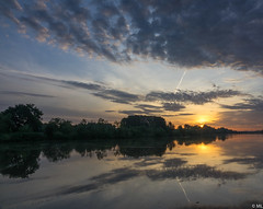 Reflection (Martine Lambrechts) Tags: reflection sunrise morning water nature landscape clouds