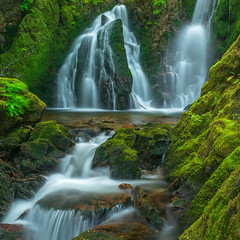Grant Lake Falls End of May 2018 (cdnfish) Tags: shawniganlake cowichanvalley cowichan cobblehill vancouverisland bc britishcolumbia canada sony sonya7m2 a7m2 water waterfall landscape landscapephotography moss tree trees longexposures longexposure