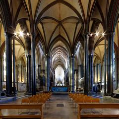 Stately retrochoir, Salisbury (Jon Sketchley) Tags: england wiltshire salisbury cathedral retrochoir gothic earlyenglish pillars vaults vaulting purbeckmarble