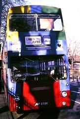 Slide 115-55 (Steve Guess) Tags: london transport buses daimler fleetline dms lambeth playbus brixton england gb uk jgf259k dms259