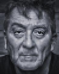 Lego (Metro Tiff) Tags: portrait man male lego blocks photoshop monochrome