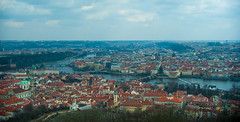 Prague From Above (Marwanhaddad) Tags: landscape cityscape prague river bridge house city