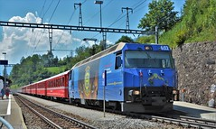 Filisur 05.08.2017 (The STB) Tags: bahn eisenbahn zug switzerland dieschweiz viafierretica rhätischebahn ferroviaretica rhaetianrailways narrowgauge schmalspurbahn