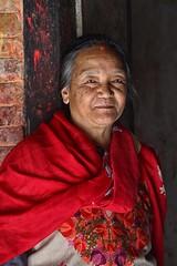 Bakhtapur, Nepal (dderici) Tags: nepal woman portrait bakhtapur sari canon7d canon70200 70200 red nepali