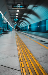 Rumble Tumble (C.R Images) Tags: leading lines colorful train station narrow focus
