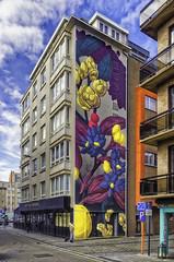 Oostende Pastel AR (glessew) Tags: pastel argentina oostende ostend mural art kunst thecrystalship vlaanderen westvlaanderen belgië belgique bistro apero nieuwstraat