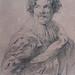 VAN DYCK Antoon - Portrait de Simon de Vos (drawing, dessin, disegno-Louvre RF662) - Detail 2