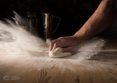 52-13 Bread - Kneed more power (Trip choc) Tags: flour bread work dust baking table craft