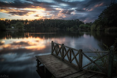 Chasing Down the Day DSC_4692 (BlueberryAsh) Tags: daylesford lakedaylesford sunset lake water reflection clouds cloudsstormssunsetssunrises evening eveningglow colour jetty victoria spacountry nikond750 leefilter longexposure