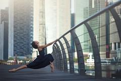(dimitryroulland) Tags: nikon d600 85mm 18 dimitryroulland singapore asia travel trip dance dancer ballet ballerina pointe urban street city morning natural light sport fit flexible people flexibility buildings performer art artist