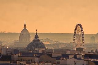 598 Paris en Février 2018 - la Grande Roue Place de la Concorde, l'éGlise Notre-Dame de l'Assomption rue Saint-Honoré et le dôme des Invalides