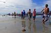 Beach fishermen Philippines. (Bernard Spragg) Tags: fishermen beach asia philippines travel culture lumix nets people working groupenuagesetciel