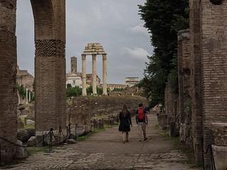 Couple in Roman Forum