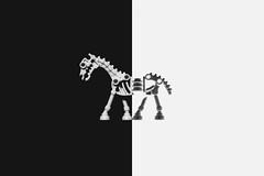 Split (3rd-Rate Photography) Tags: lego skeleton horse blackandwhite bw toy toyphotography canon 50mm 5dmarkiii jacksonville florida 3rdratephotography earlware 365
