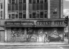 Fresh Bites, Hilton Street, Manchester (dlsmith) Tags: manchester mcr bw blackwhite monochrome monochromatic street streetphotography candid northernquarter nq mysteryman
