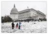 43 Folk, 1 Dog and 1 Photographer Having Fun the First Day of Spring (GAPHIKER) Tags: capital washington washingtondc lawn sleigh sledding sleighriding fence flags