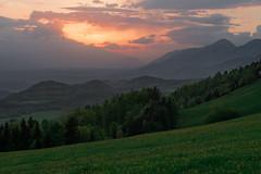 View from Krvavec (happy.apple) Tags: ambrožpodkrvavcem kranj slovenia si clouds landscape spring dandelion sunset