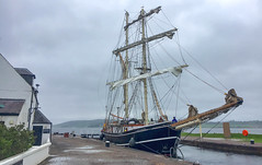 Lady of Avenel - In the Canal (Andy.Gocher) Tags: a andygocher canon100d theladyofavenel transit trip caledonia canal clachnaharry tallship sailing brigatine water sea dock port