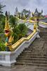 Thailand - Krabi - Krabi Town Temple 02_DSC6760 (Darrell Godliman) Tags: thailandkrabikrabitowntemple02dsc6760 stair staircase naga watkaewgovararam temple thaitemple krabitown krabi thailand asia