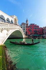 Rialto (Nicola Pezzoli) Tags: italia venezia venice carnevale canals canali italy travel ponte rialto bridge gondola water colors color vivid boat blue