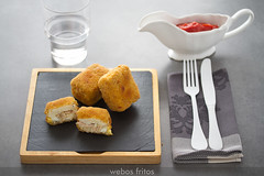 Bocados de huevo y bonito (webos fritos) Tags: atún bechamel bonito empanado huevoduro lecreuset