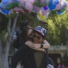 Happiest place on Earth (christianducat) Tags: disneyland canon 6d eos balloons couple happy love