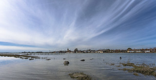 High Tide and Wispy Clouds