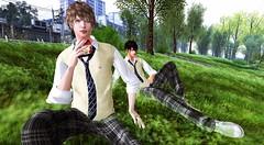 (Light Aoshimori) Tags: student japanstudent school anime sliceoflife building food
