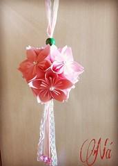 Kusudama 🌸 (ArtesaNá) Tags: flordeorigami origami dobradura kusudama artesanato artesanatoempapel