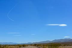 20180316_Death_Valley_099 (petamini_pix) Tags: california deathvalley deathvalleynationalpark desert landscape mountains westsideroad clouds lenticularclouds plane jetplane contrail