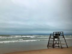 The lake has reclaimed the beach (ErinAB (ern the ferle)) Tags: coast greatlakes water lake michigancityindiana michigancity indiana beach lakemichigan