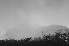 Summit (castillobg) Tags: chile snow mountain torres paine cold black white blanco negro frio montaña clouds nieve