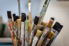 Clean Brushes (Phil Roeder) Tags: desmoines iowa desmoinespublicschools northhighschool art artclass paint brush canon6d canonef50mmf18