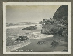 Newcastle Beach, N.S.W. (maitland.city library) Tags: newsouthwales fred harvey newcastle beach sea seaside ocean