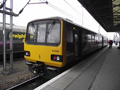 144006 (Rob390029) Tags: 144006 northern rail class 144 doncaster railway station don train track tracks rails travel travelling transport transportation transit ecml east coast mainline