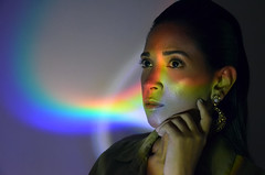 Glow (BárbaraDesigner) Tags: woman glow light photography photo hair makeup make beautiful beaty design art love rainbow