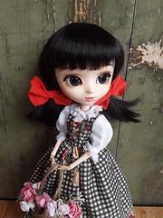 Fake outfits - Himawari black version (Lunalila1) Tags: doll groove cinderella pullip handmade outfit fake costura himawari
