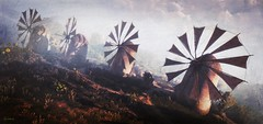 Industrial Zone (~Scimo~) Tags: tw3 screenshot fantasy rpg landscape windmill witcher windmühle landschaft textur