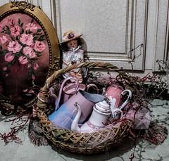 Easter basket full of vintage enamelware (YourCastlesDecor) Tags: enamel enamelware easter easterbasket basket frenchenamelware pinkenamelware enamelwareteapots enamelwarecoffeepots basketofenamelware easterbasketbounty easterhunt easterhuntbounty pink vintageenamel roses rosepainting paintingofroses pinkroses vintagepainting