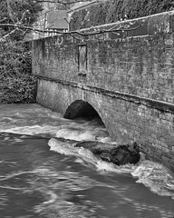 Easter Monday Flood Water (LindaShaws Images) Tags: river flood water staffordshire april fast flowing tree trunk weir bridge stone brick village eastermonday 2018 uk england wet