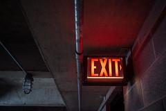 way out (88/365) (severalsnakes) Tags: kansascity m2828 missouri pentax saraspaedy ceiling concrete exit garage k1 law legal light manual manualfocus office parkinggarage sign work